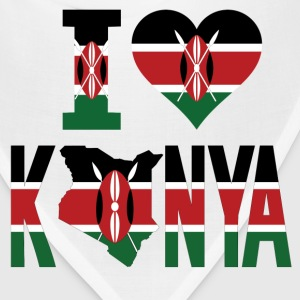 I Love Kenya Flag T-Shirt - Bandana