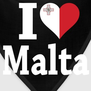 I Love Malta Flag t-shirt - Bandana