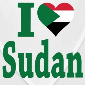 I Love Sudan Flag T-Shirt - Bandana