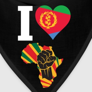 I Love Eritrea Flag Africa Black Power T-Shirt - Bandana