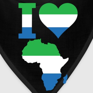 I Love Africa Map Sierra Leong Flag - Bandana