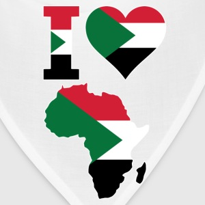 I Love Africa Map With Sudan Flag - Bandana