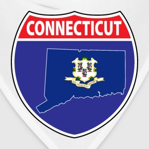 Connecticut Flag Map Highway Sign Tee - Bandana