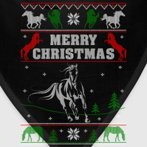 Ugly Christmas sweater for horse lover - Bandana