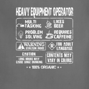 Heavy Equipment operator - Multi tasking operator - Adjustable Apron