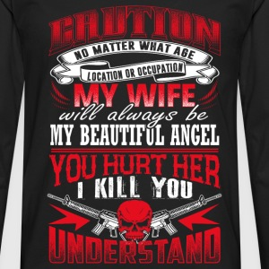 My wife will always be my beautiful angel - Men's Premium Long Sleeve T-Shirt