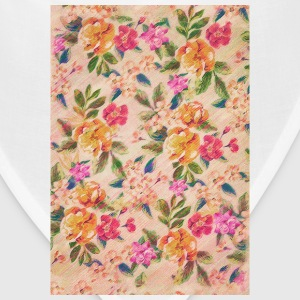 Vintage Glitched Pastel Flowers - Phone Case Phone & Tablet Cases - Bandana