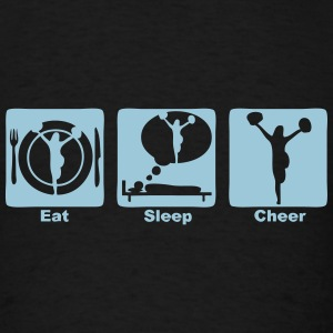 cheerleading eat sleep play 1 Long Sleeve Shirts - Men's T-Shirt