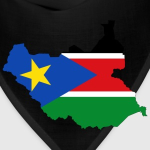 South Sudan Flag Map With Stroke - Bandana