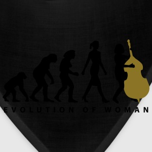 evolution_female_bass_player_a_2c T-Shirts - Bandana