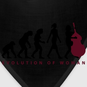 evolution_female_bass_player_b_2c T-Shirts - Bandana