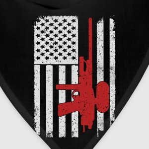 Paintball - America USA Flag T-Shirt T-Shirts - Bandana