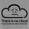 'There Is No Cloud' Original T-Shirt - Grey & Blac - Women's Premium T-Shirt