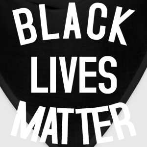 Black Lives Matter white T-Shirts - Bandana