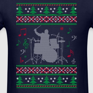 Drums Ugly Christmas - Men's T-Shirt
