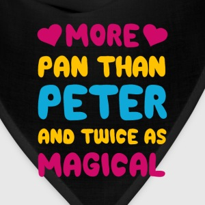 More Pan Than Peter and Twice as Magical Pansexual T-Shirts - Bandana