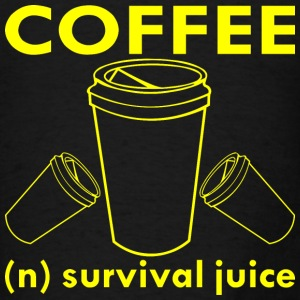 Coffee (n) Survival Juice  - Men's T-Shirt