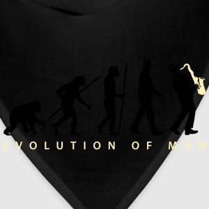 evolution_of_man_saxophone_player_092016 Kids' Shirts - Bandana