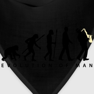 evolution_of_man_saxophone_player_092016 T-Shirts - Bandana