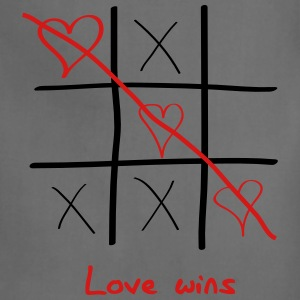 Tic Tac Toe. Love Wins Tanks - Adjustable Apron