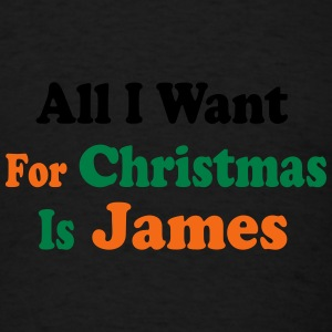 ↷♥All I want for Christmas is James Cap♥↶ - Men's T-Shirt