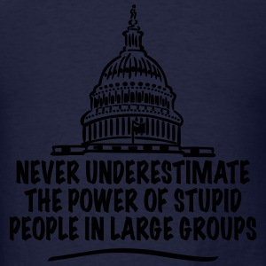 TRUMP - Power of Stupid People in Large Groups Hoodies - Men's T-Shirt