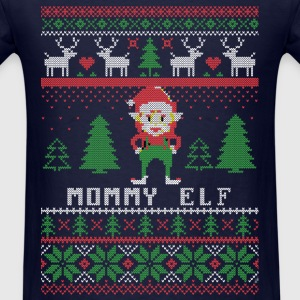 Mommy Elf Ugly Christmas Long Sleeve Shirts - Men's T-Shirt