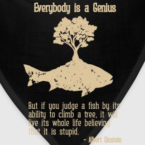 Genius - Everybody is a genius Albert Einstein tee - Bandana