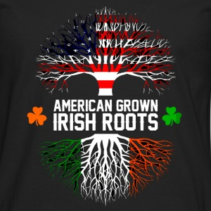 Irish - American grown with Irish roots t-shirt - Men's Premium Long Sleeve T-Shirt