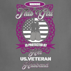 Veteran wife This girl is protected by her husband - Adjustable Apron