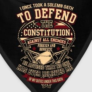 Veteran - Solemn oath to defend the constitution - Bandana