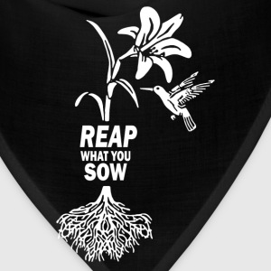 Reap what you sow Flower Hummingbird Heather - Bandana