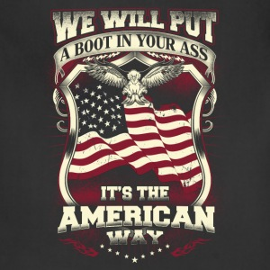 American - We will put a boot in your ass - Adjustable Apron