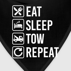 Tow Truck Eat Sleep Repeat T-Shirt T-Shirts - Bandana