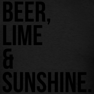 Beer, Line & Sunshine Funny Quote Sportswear - Men's T-Shirt