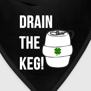 Funny DRAIN THE KEG of beer Shamrock Graphic Irish T-Shirts - Bandana