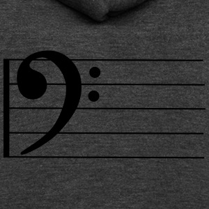 Bass Clef - Unisex Fleece Zip Hoodie by American Apparel