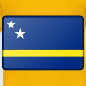 Flag of Curacao (bevelled) - Toddler Premium T-Shirt