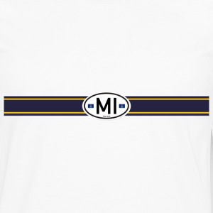 Michigan Racing Stripe - Men's Premium Long Sleeve T-Shirt