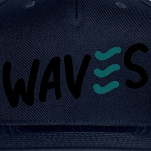 Waves T-Shirts - Snap-back Baseball Cap