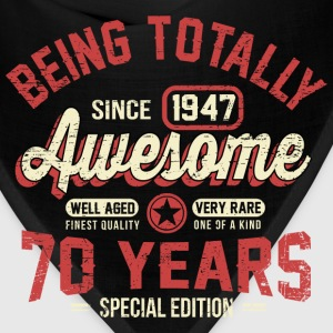 70 Years Of Being Awesome T-Shirts - Bandana