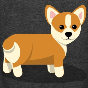 Corgi - Unisex Fleece Zip Hoodie by American Apparel