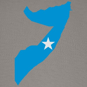 Somalia Flag Map - Baseball Cap