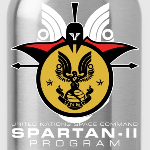 UNSC Spartan-II Program dark mens shirt - Water Bottle