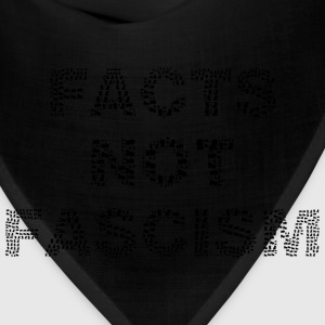 Facts Not Fascism Black - Bandana