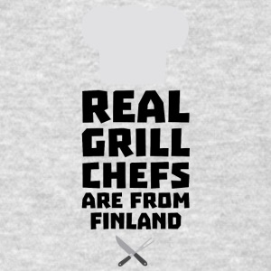 Real Grill Chefs are from Finland Skwx2 Sportswear - Men's T-Shirt