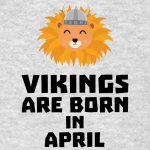 Vikings are born in April Sxa47 Sportswear - Men's T-Shirt
