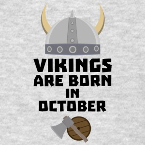 Vikings are born in October Sv005 Sportswear - Men's T-Shirt