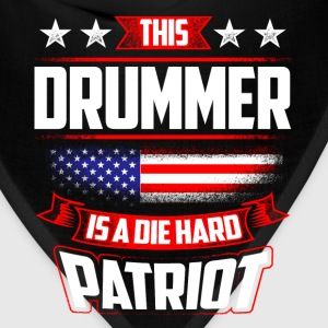 4th Of July - Die Hard Patriot Drummer Gift  T-Shirts - Bandana