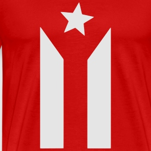 puerto rican black and white flag Sportswear - Men's Premium T-Shirt
